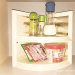 100円で作れるプチDIY★おしゃれで便利なキッチン棚